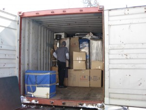 20' containers can hold up to a 3-bedroom home when packed full