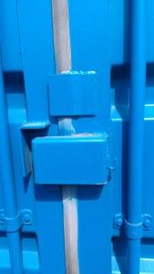 Lockbox on refurbished container