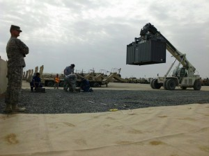 Forklifts and cranes are great onsite options