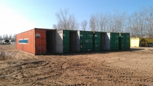 These containers were being filled with heavy equipment, so not blocking was easier