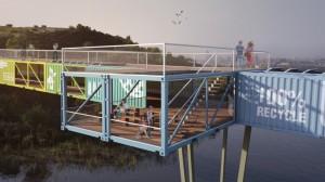 Observation decks on the bridge