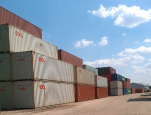 By no means packed, container yards are getting fuller