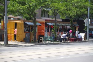 Market 707 in Toronto in front of the Scadding Court Community Centre