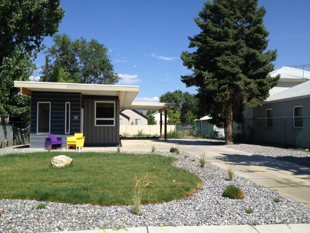 Sarah House Utah is a great example of a container home, check out more pictures at:  https://www.facebook.com/pages/Sarah-House-Utah/72517442758