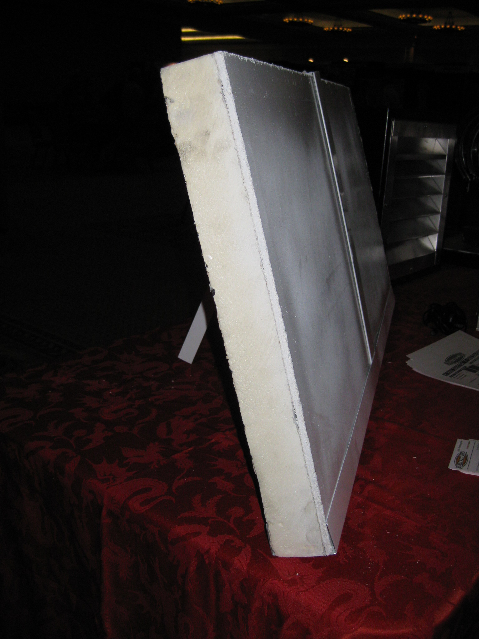 Profile of foam board insulation