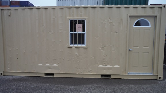 Container office with man-door painted beige.jpg