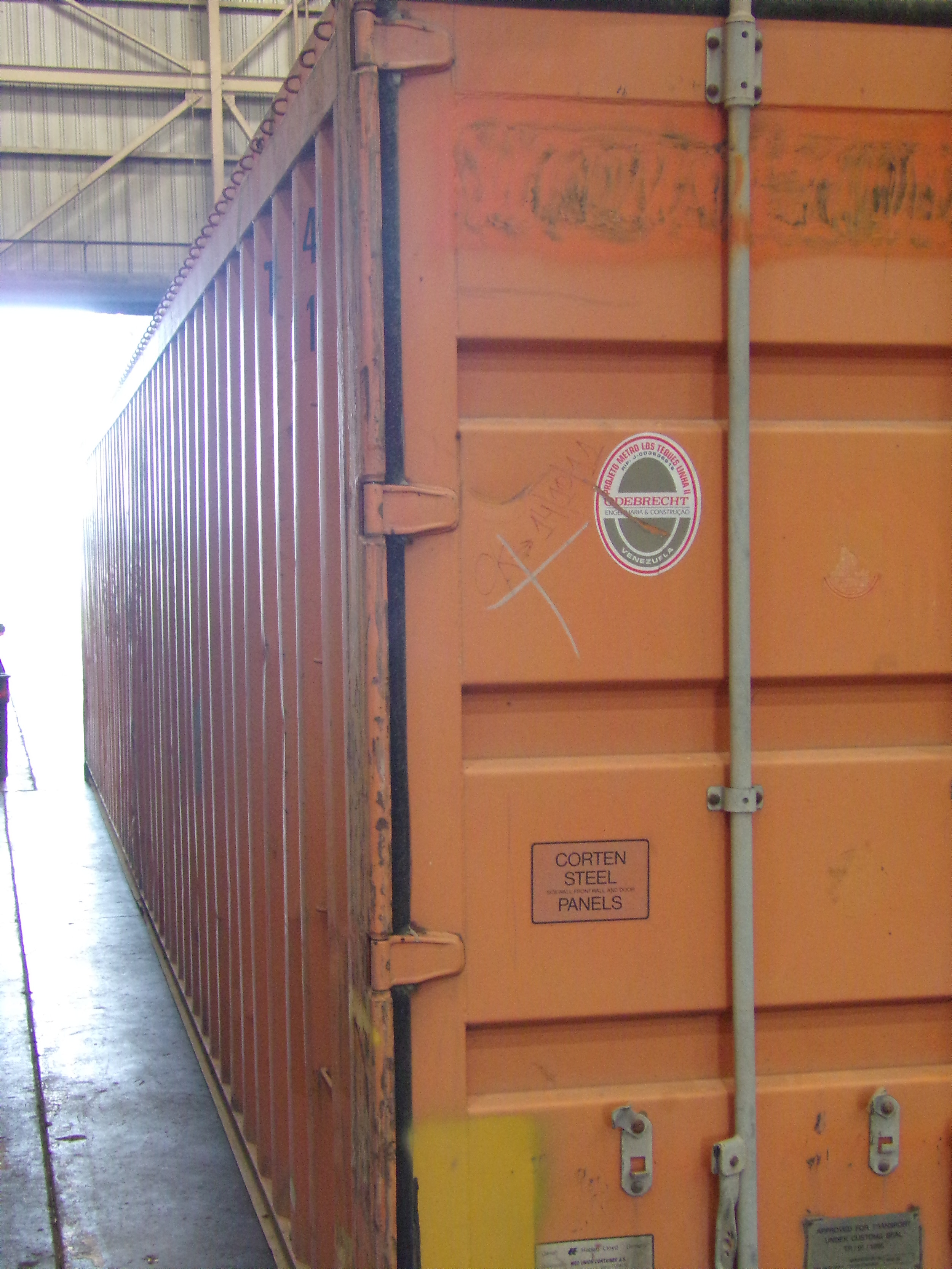 Side of container