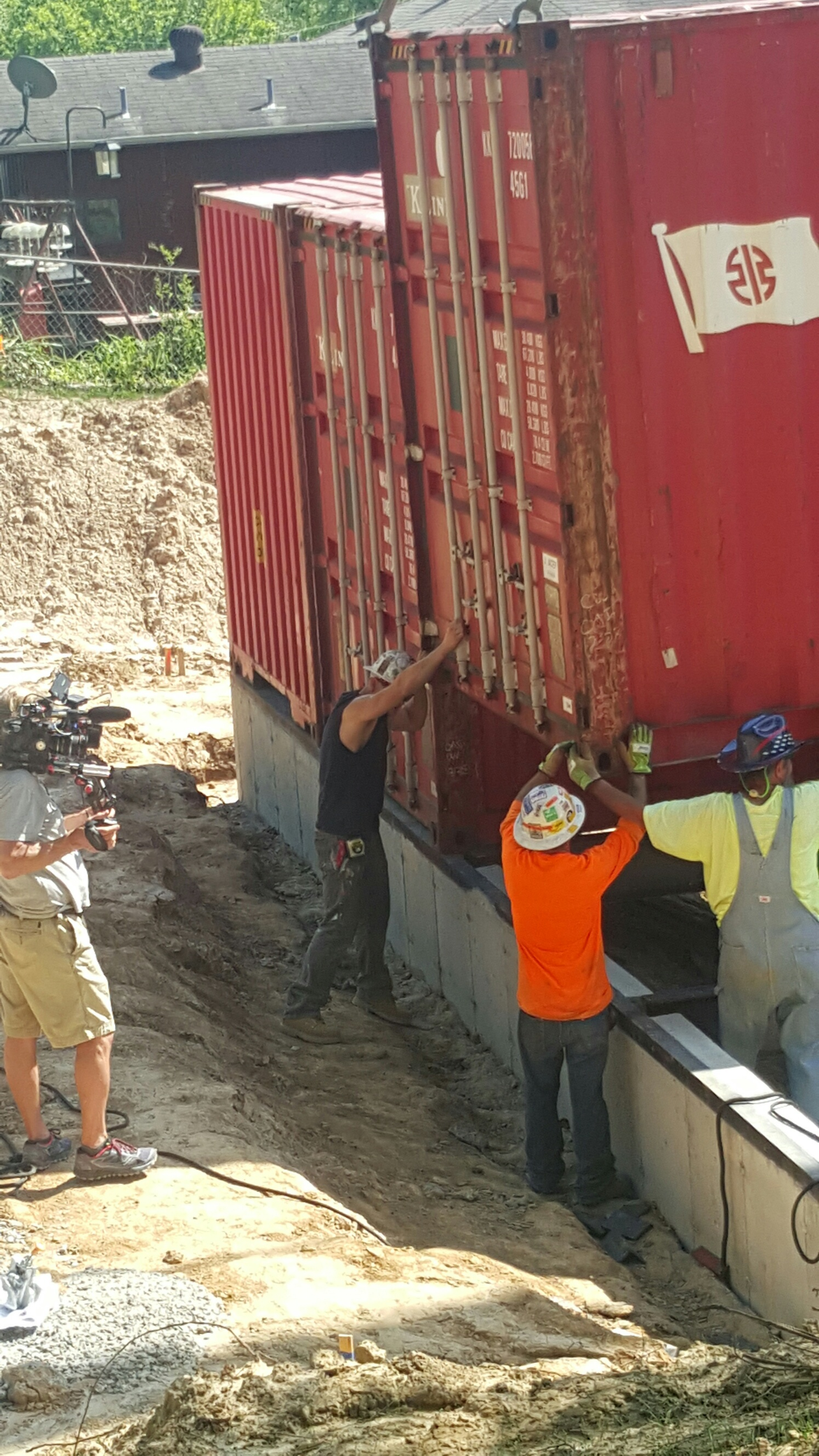 Container #3 getting into place