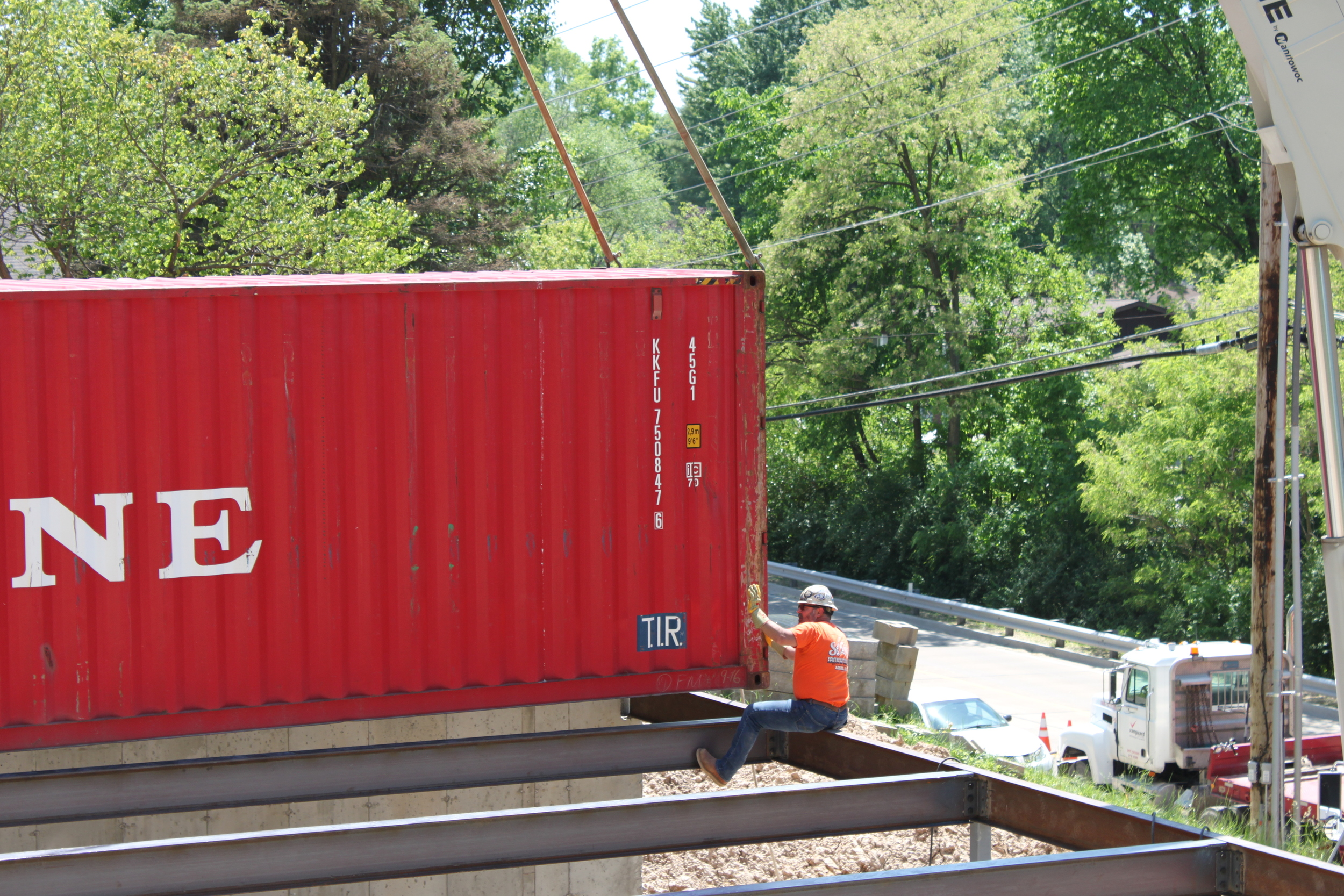 Making sure the container is just right