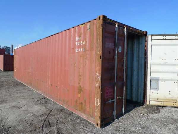 Brown 40' high cube container