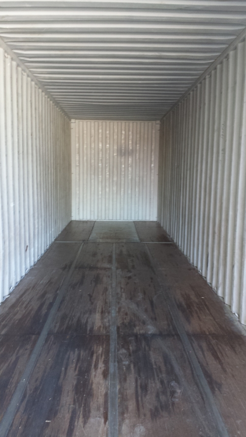 Inside 40' container