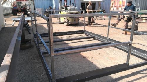 Platform kit with railing kit (does not show the grating for the platform floor)