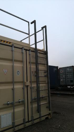 Platform kit and ladder kit installed