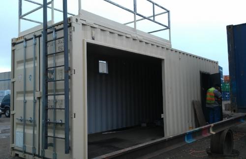 Platform kit, railing kit and ladder kit installed, custom length