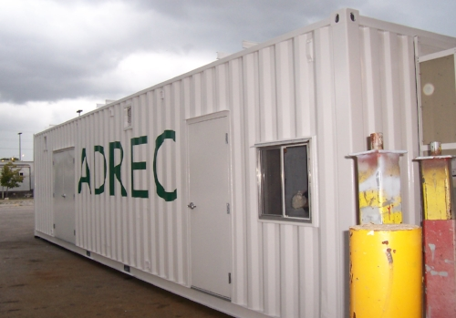2 side doors, insulated, modified container ready to ship