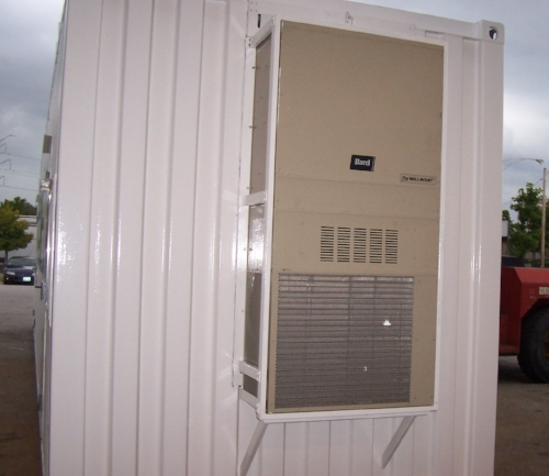 HVAC unit with support