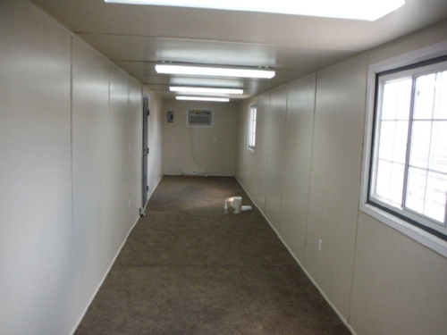 Inside container office