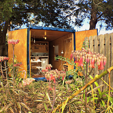 Sw Living converted a 20' container into this off-the-grid living space