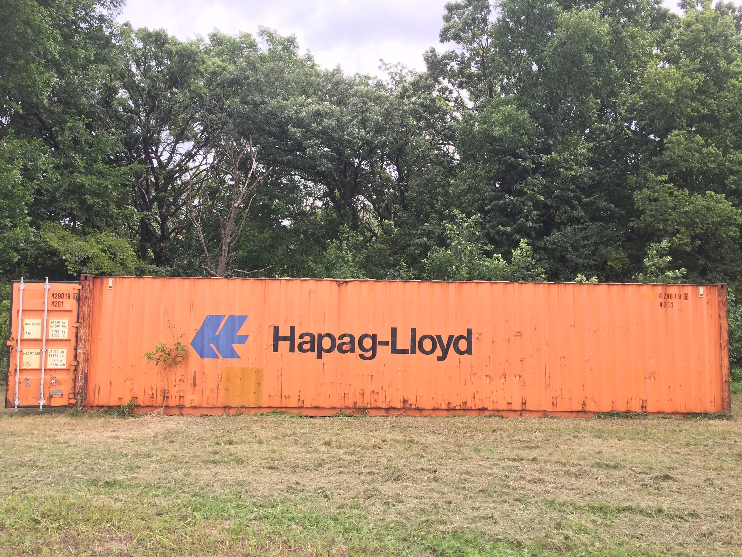 A used 40' high cube container is available outside of Rochester, MN