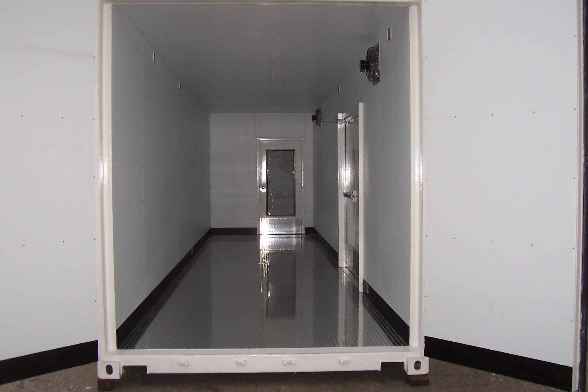 Insulation, electric work and diamond-plate flooring