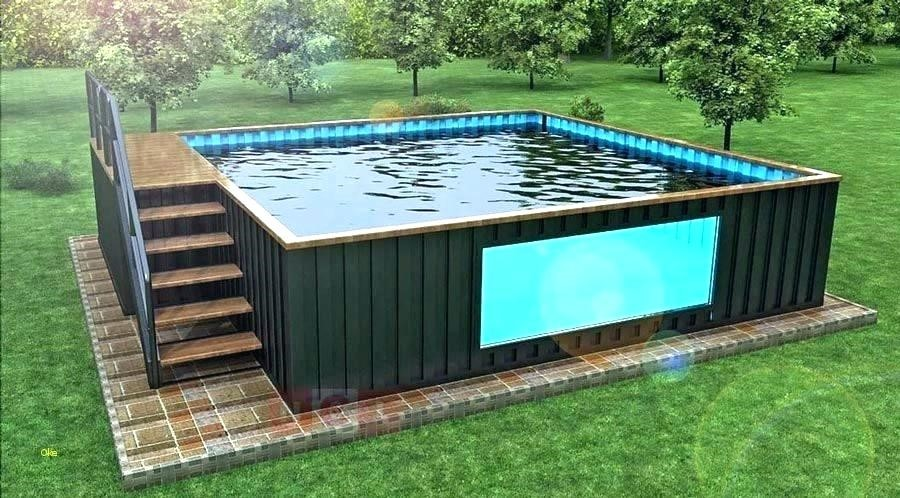 Outdoor container pool