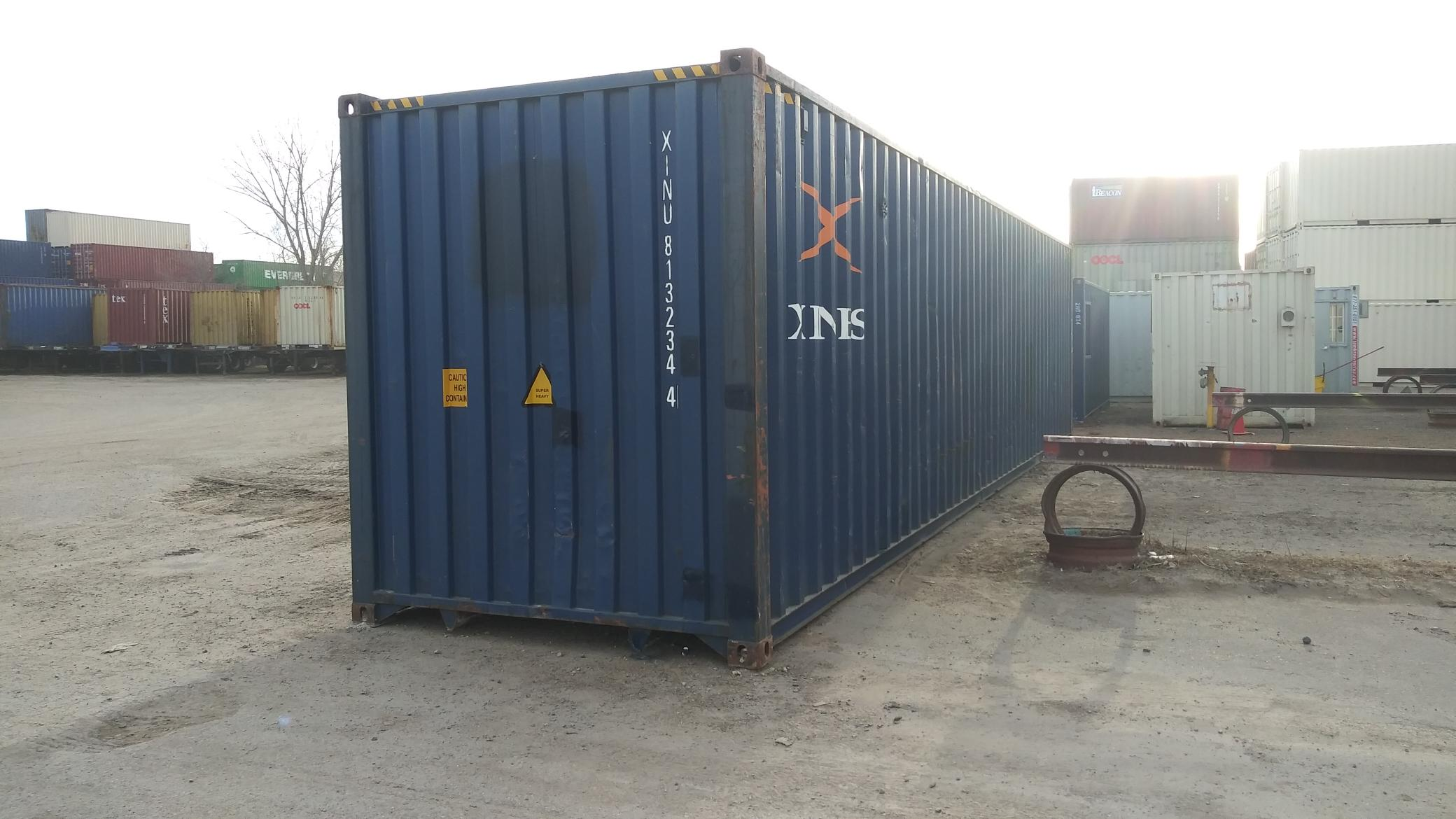 There were some holes in the end of the container that were repaired
