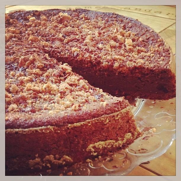 torta di zucca con amaretti e cioccolato