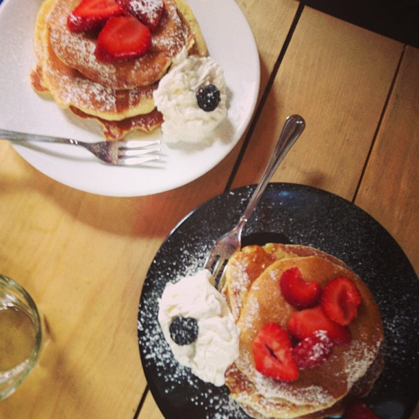 pancake fragole