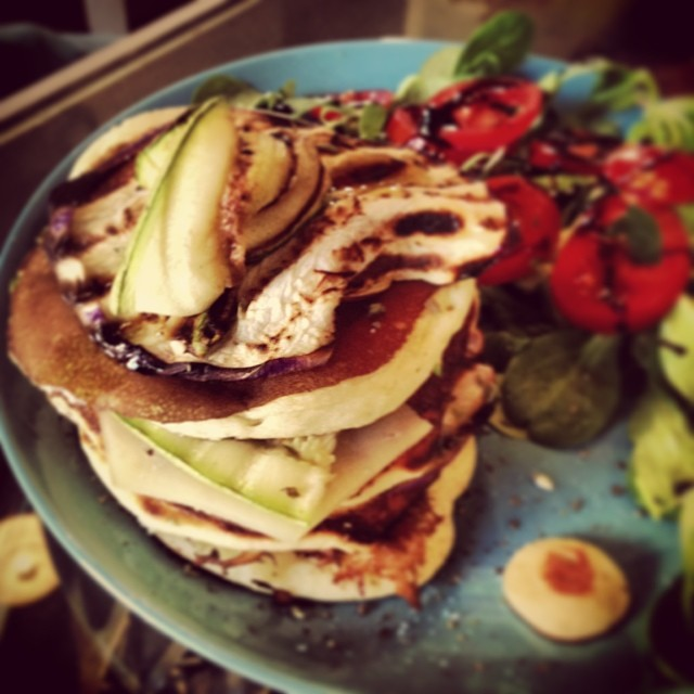 veggy pancake verdure grigliate e toma