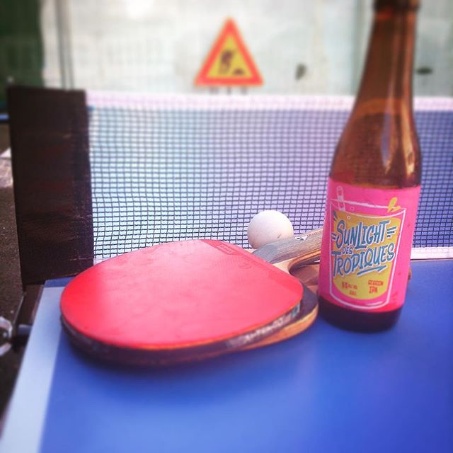 #chillingout #hotsummer  #pingpong #sessionipa #summertime #cantiere #birrette #paibikery