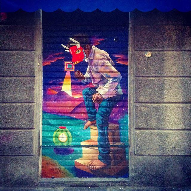 OSCAR 🌘🇲🇽🌵 è stato al Pai Bikery #oscaraxoart #mexico #turin #artist #murales #paibikery #muchasgracias