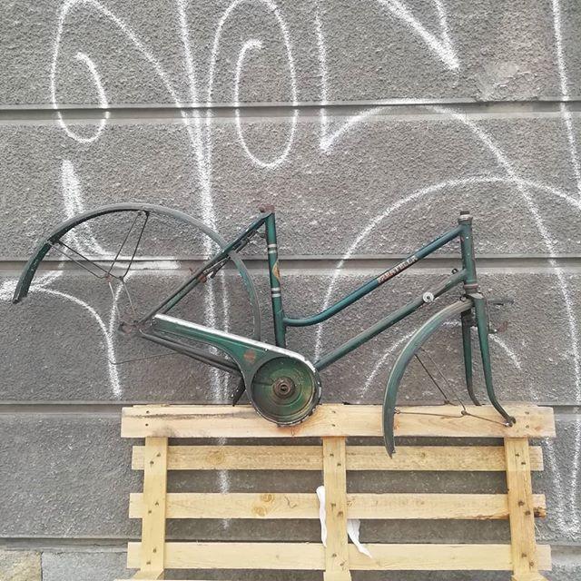 Bici Paratella donna anni '50, realizzata su misura da Corrado Paratella. Freneria interna a bacchetta con freni tipo cantilever realizzata artigianalmente, oliatore a lancetta sul tubo sterzo, manettino cambio Simplex, testa di forcella unicrown, forcellini artigianali, astiene parafango in alluminio artigianali. #biciepoca #cicliparatella #torino  #telaisti #bicivintage #filletbrazed #madeinitaly #custommadeframes #citybike #ladiesbike