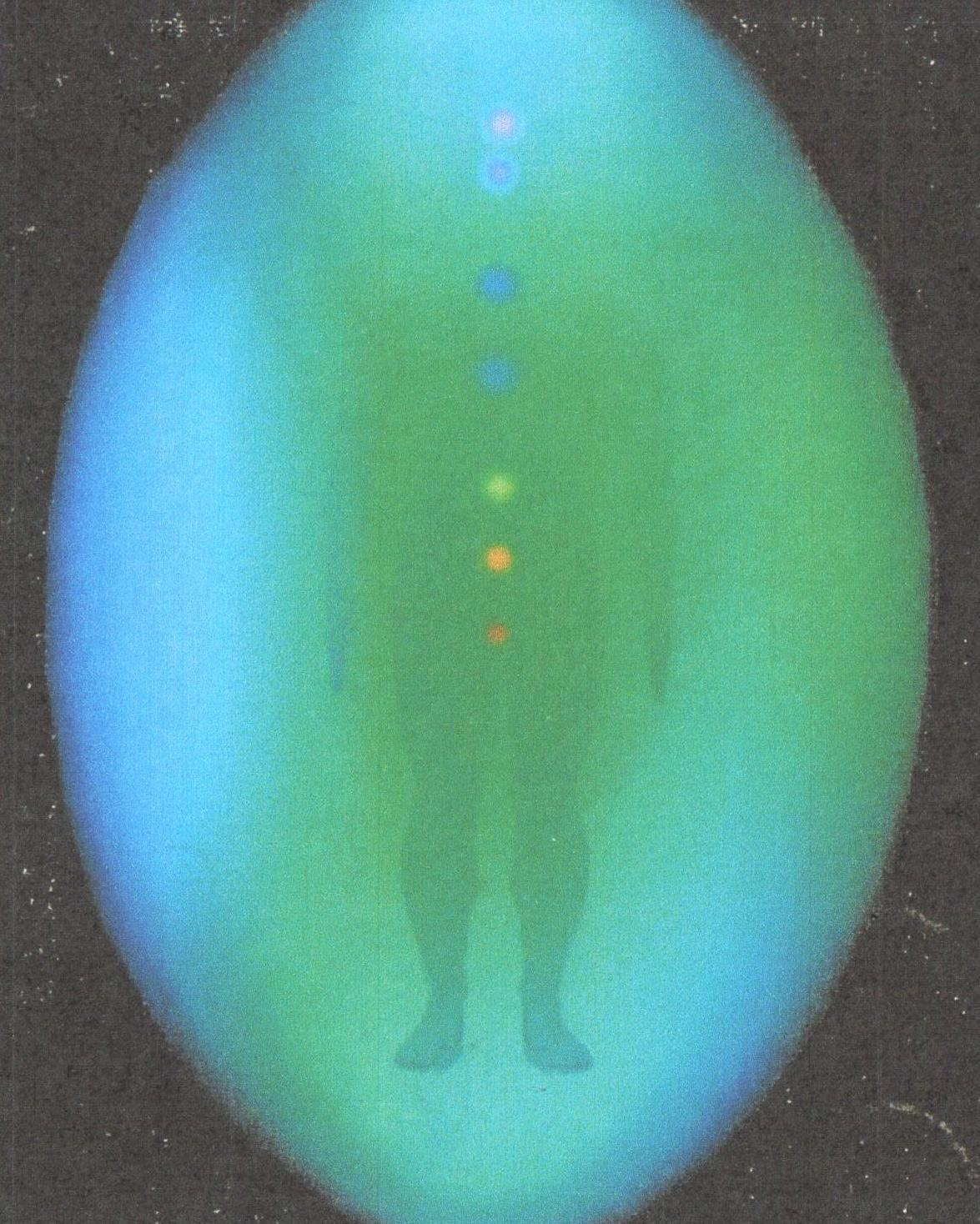 Aura photography performed on the same client just after his healing session with Victor