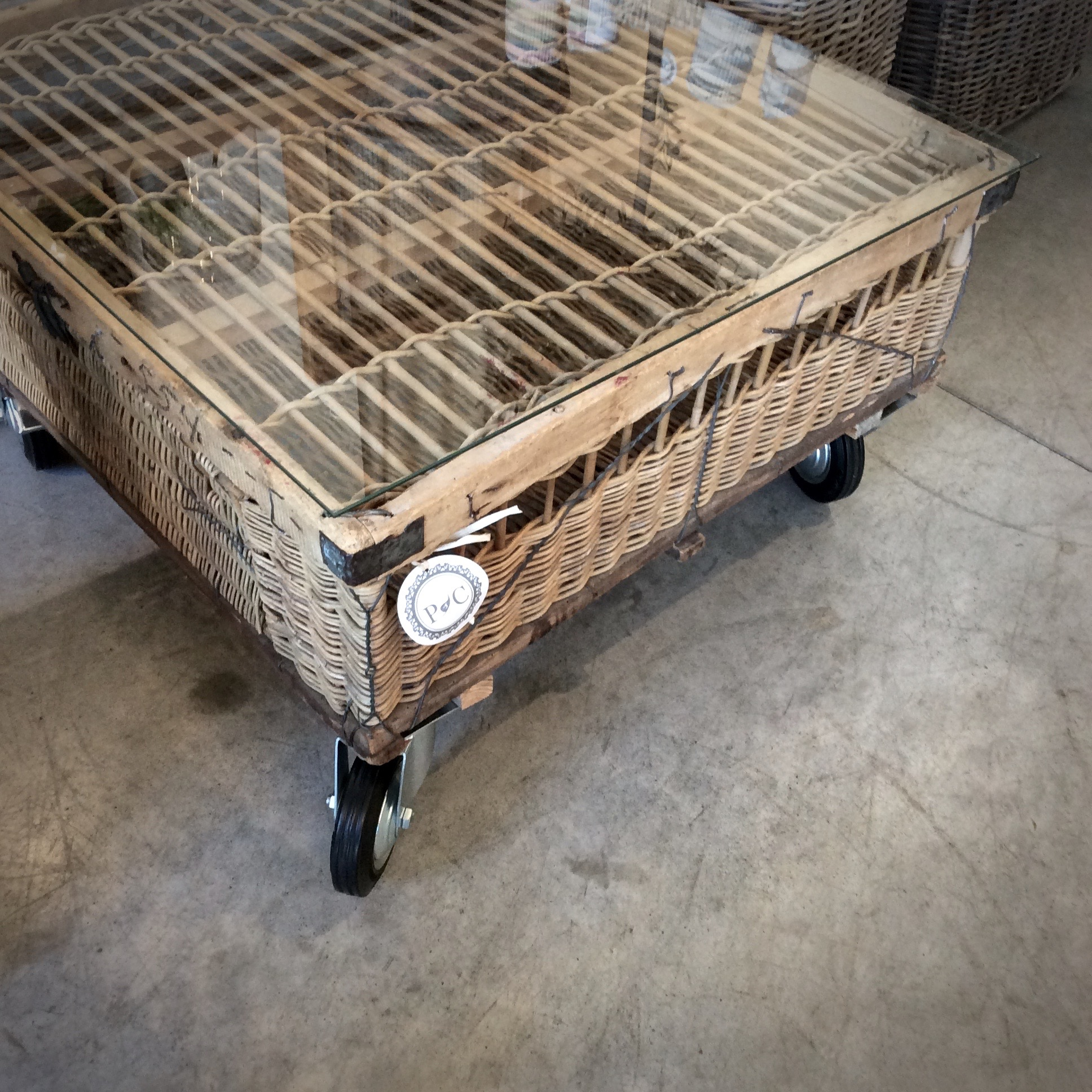 Pigeon Basket Coffee Table Now $250 Was $995 33w x 33d x 19h