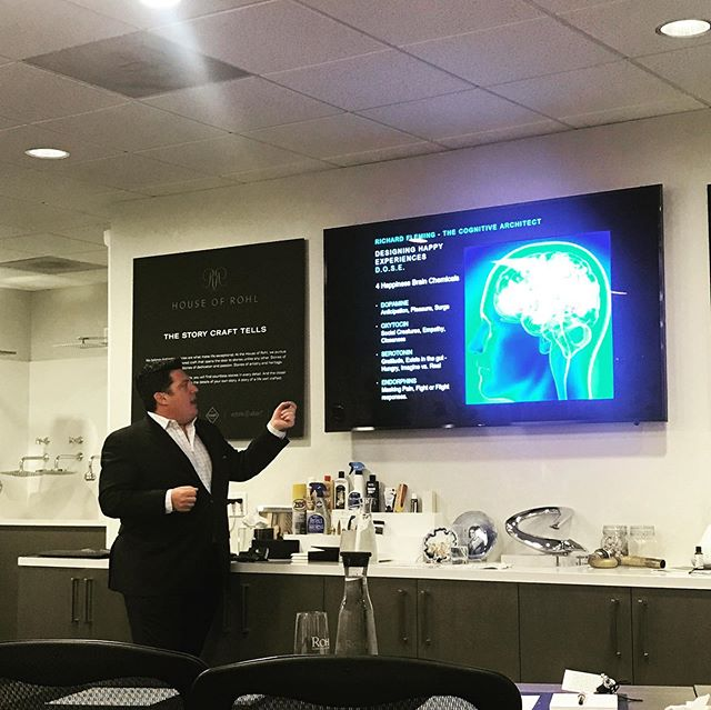 Neuroscience behind design. Amazing presentation by Richard Fleming @flemingarchitect #design #neuroscience @fergusonshowrooms @houseofrohl @rohlfaucets @pearsonandcompany #fergusonfirstlook