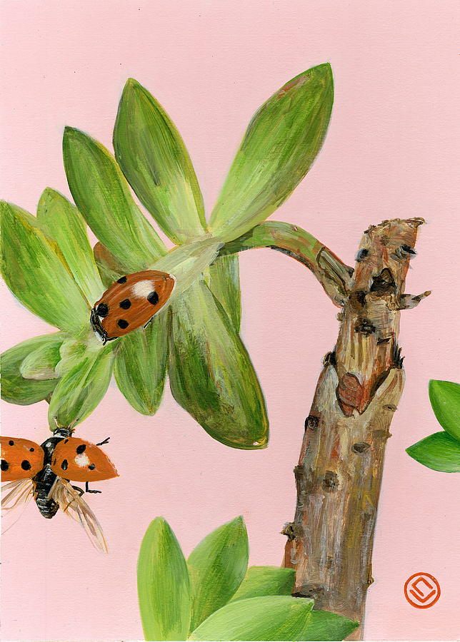 lady bugs (12x16)