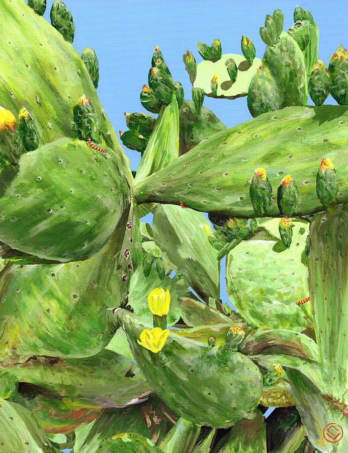 prickly pear (16x24)