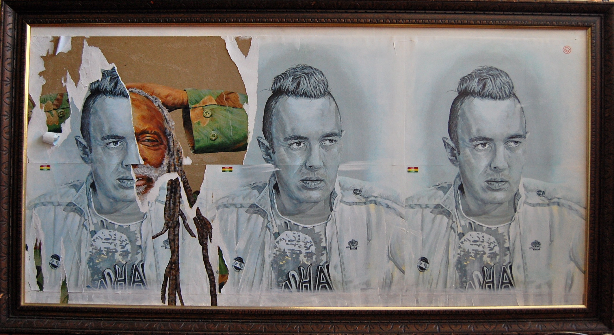 Joe Strummer and Junior Murvin, Police and Thieves 48x24