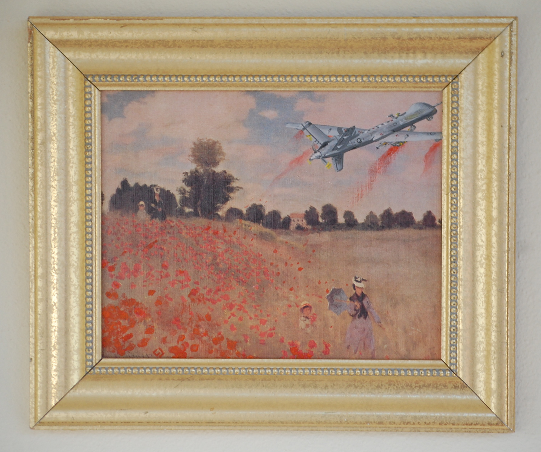 Monet and the Drone 6x8
