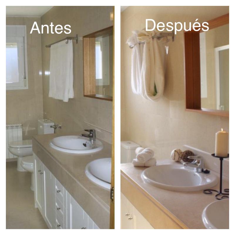 De un simple baño a el mismo baño pero con más luz y mucha más personalidad .