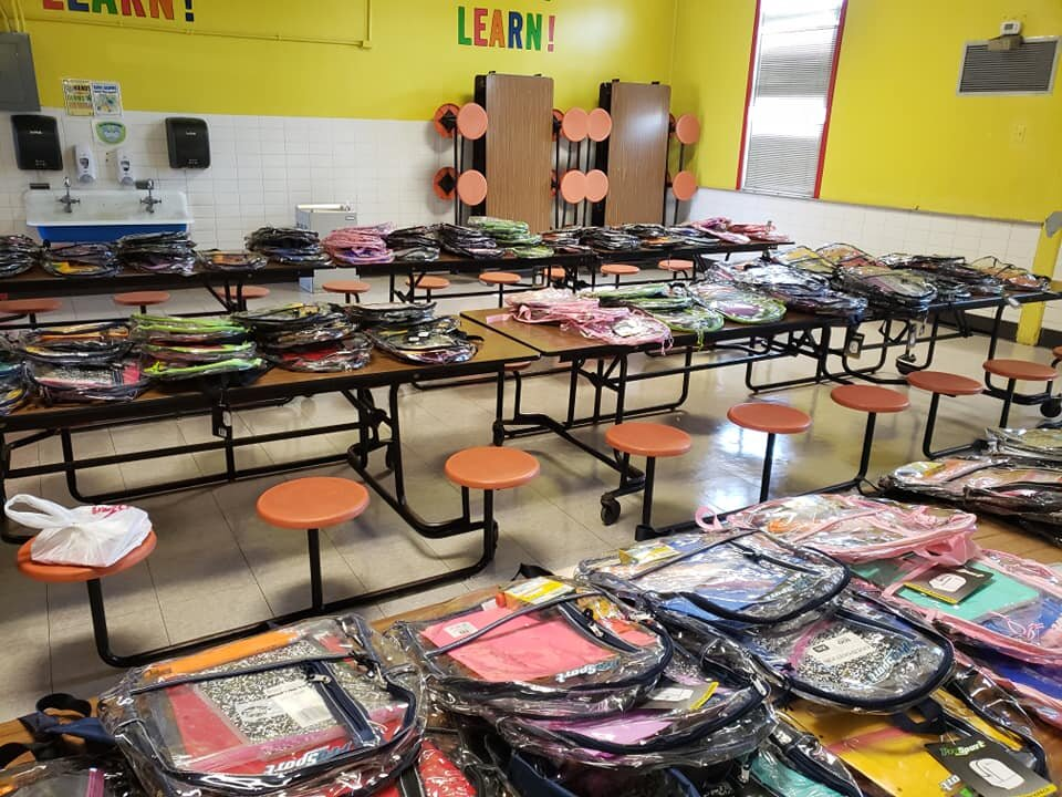 Over 300 book bags and over $3,000 worth of school supplies went to support our elementary school students in East Carroll and Tensas Parishes