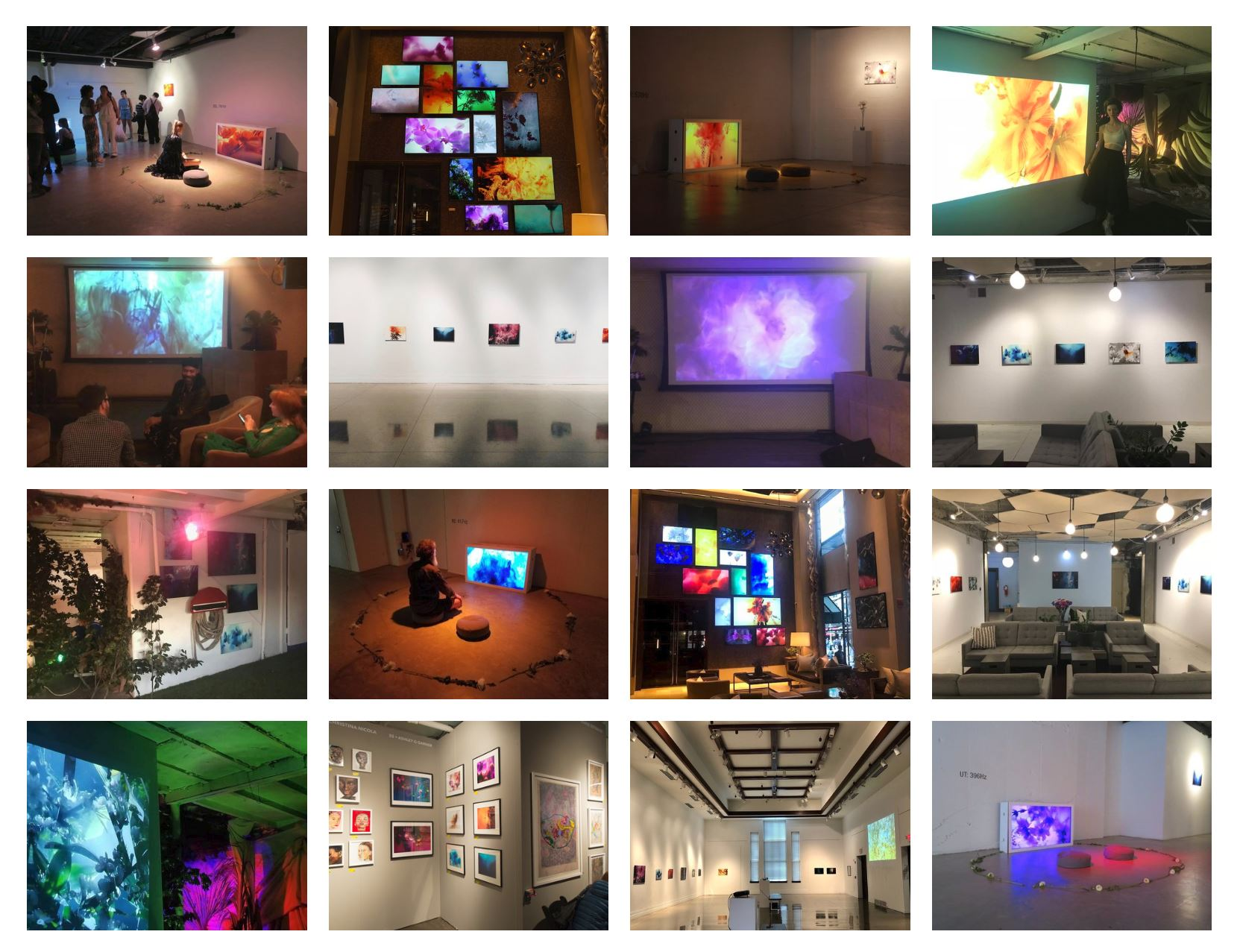 exhibitions of SYNAESTHESIA & AESTHESIA 2017-2019