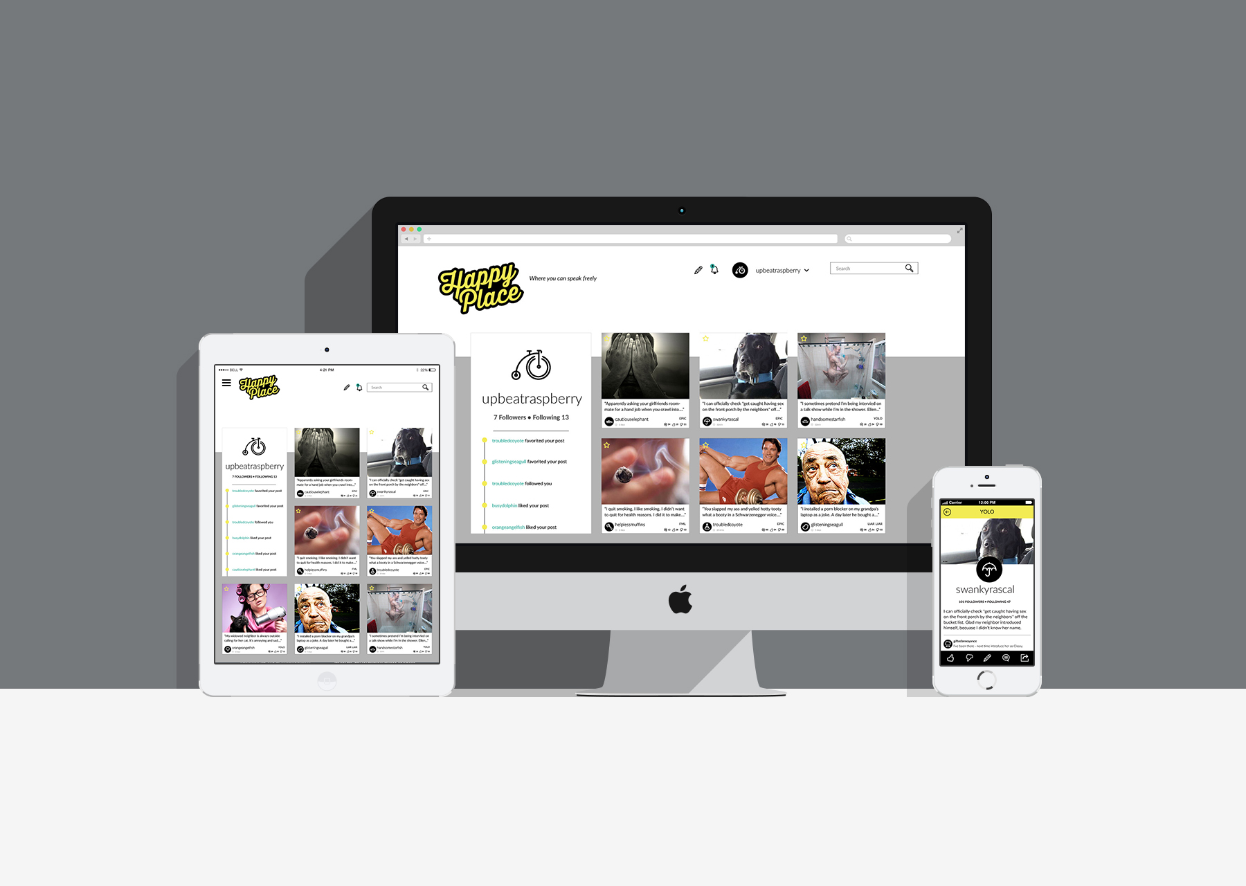 Responsive Design: Profile Page