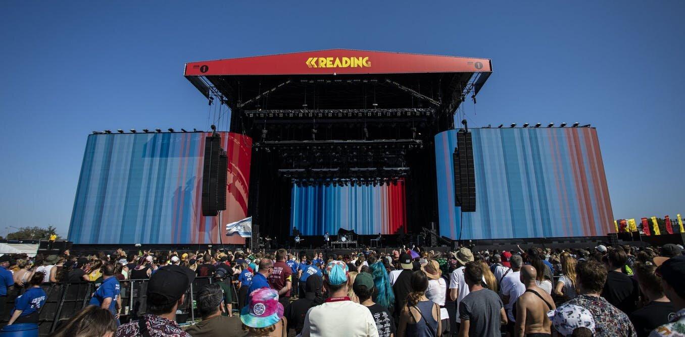 A background during Enter Shikari's set at Reading music festival