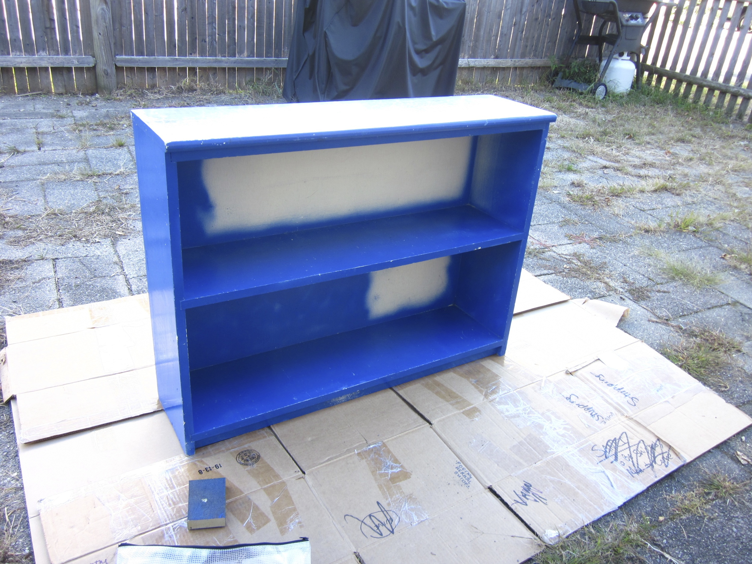Good ol' piece of furniture, like you probably have in your basement or old bedroom or something. Get ready to make that thing gorgeous!