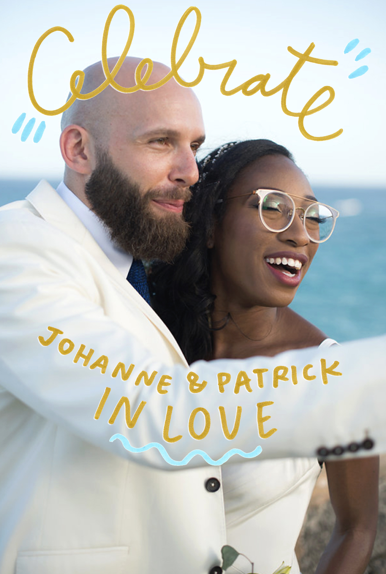 - JOHANNE & PATRICK'S PARTY POSTCARDFor a special, post-destination-wedding bash.