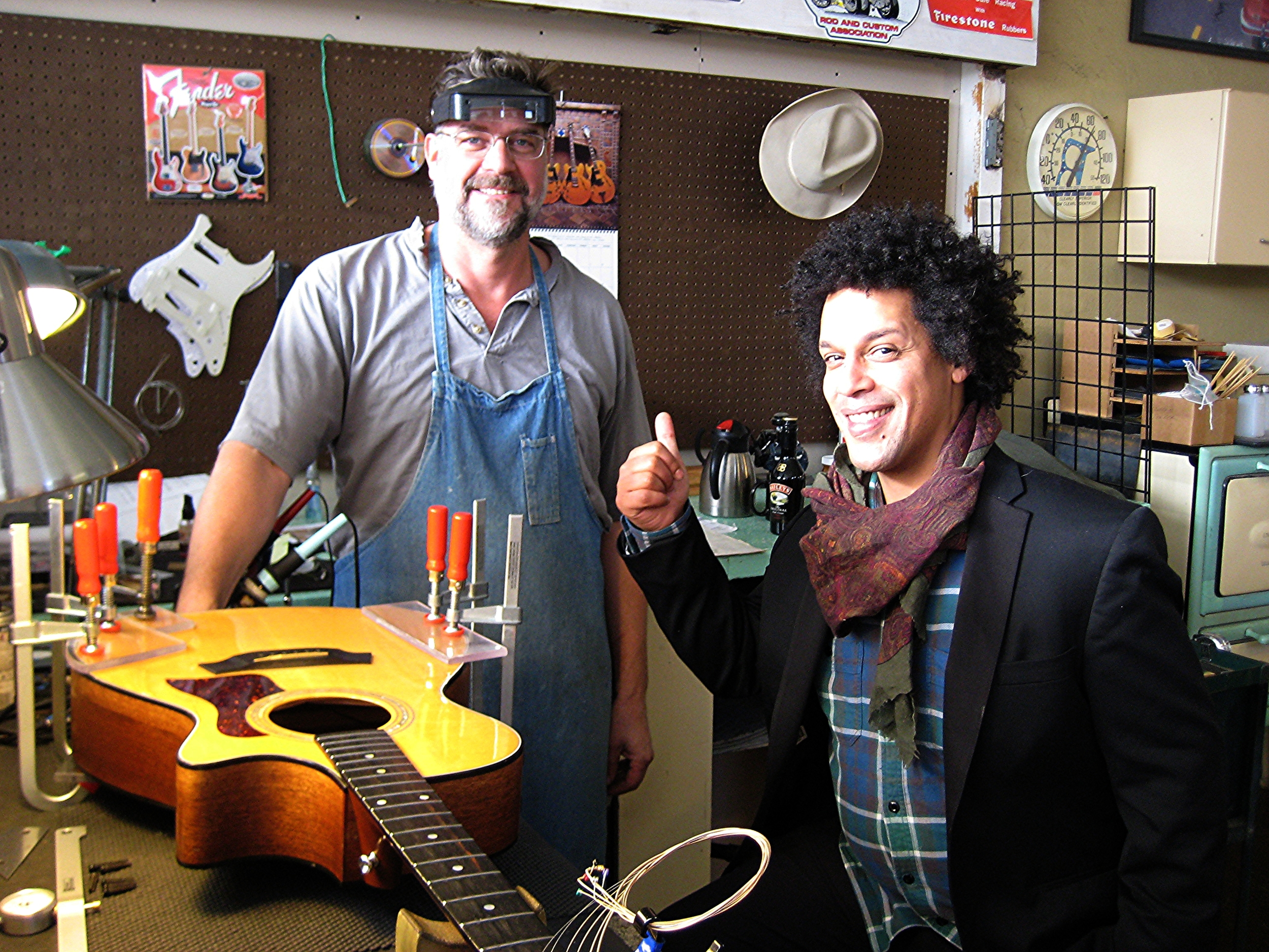 Gabriel Gordon, Natalie Merchant, guitar repair at GTS Tulsa