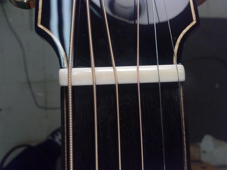 Tulsa Guitar Repair GTS Custom Bone Nut