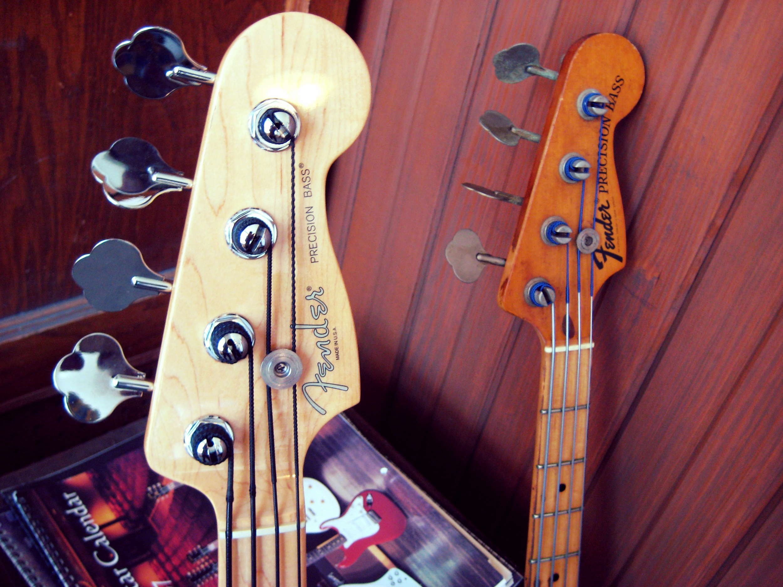 Brothers from another mother: Fender P-Bass, young and old