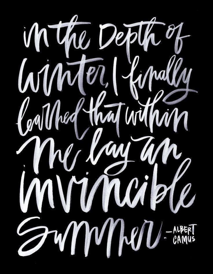 Calligraphy poster by Chelsea Petaja of  Oh My Deer .